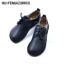 HUIFENGAZURRCS-New Mori girl Art wind all-match Dichotomanthes soft soled shoes Female Students Japanese retro shoes,4 colors