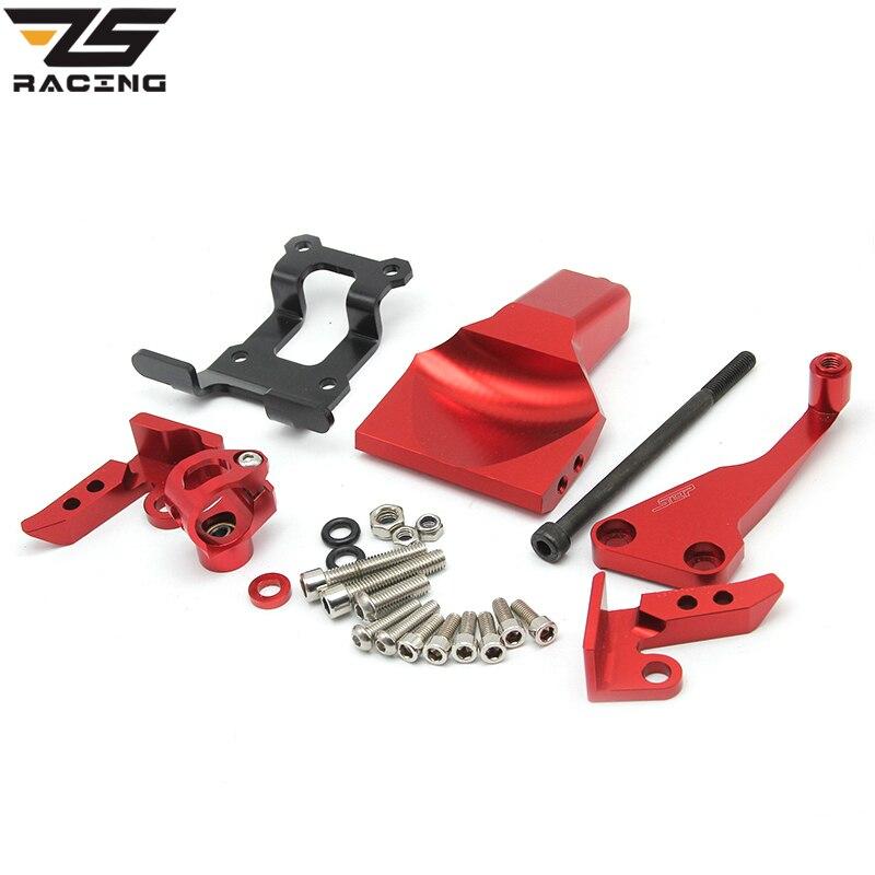 ZS Racing Motorcycle CNC Aluminum Alloy Steering Stabilizer Damper Mounting Bracket Kit For MT-07 MT07 FZ-07 FZ07 2013-2016 for ktm 200 duke 2013 2014 390 duke 2014 2015 2016 motorcycle accessories steering damper stabilizer with mounting bracket kit