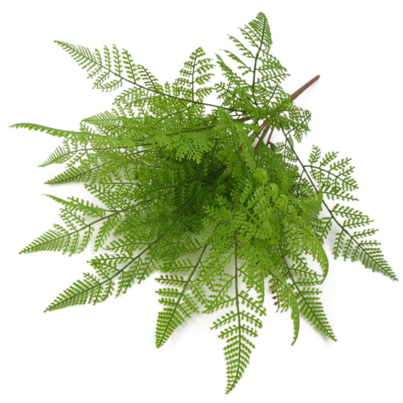 17 Fork Plastic Artificial Tree Fern Persian Grass Green Simulation Plant Home Wall Wedding Decoration Table Decors