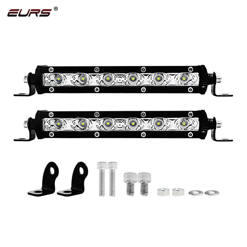 EURS 7 дюймов 18 Вт Светодиодный светильник бар светодиодный рабочий светильник точечный луч для вождения противотуманный светильник дорожны...