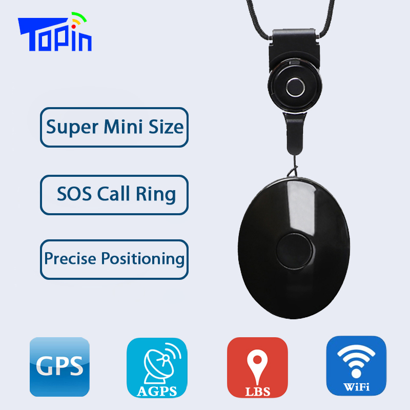 цена на Topin G05 Mini Pendant GPS Tracker Anti-lost Vibration Alarm for Children Old Men Pets GSM GPS LBS Wifi Real-time Call Tracking