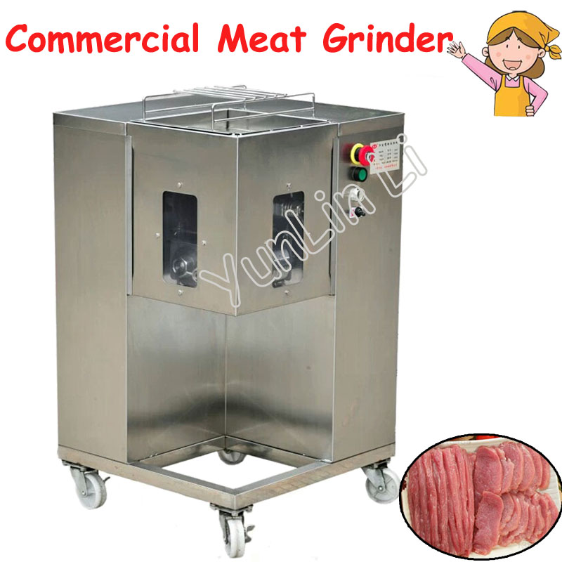 Popular Meat Slicing Movable Meat Processor with 4 Wheels Steel Meat Chopping Machine for Grinding Shredding Slicing QSJ-A wavelets processor