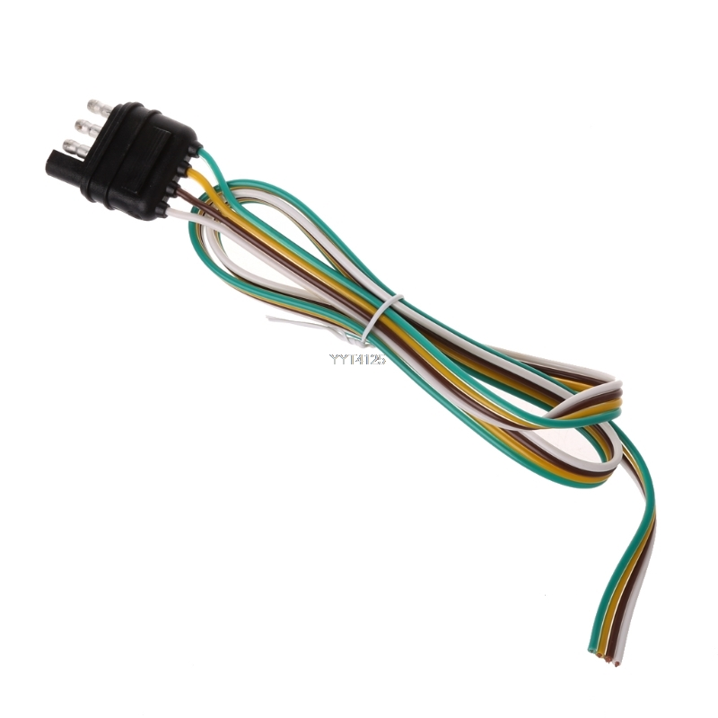 Trailer Light Wiring Harness Extension 4 Pin Plug 18 AWG Flat Wire ...