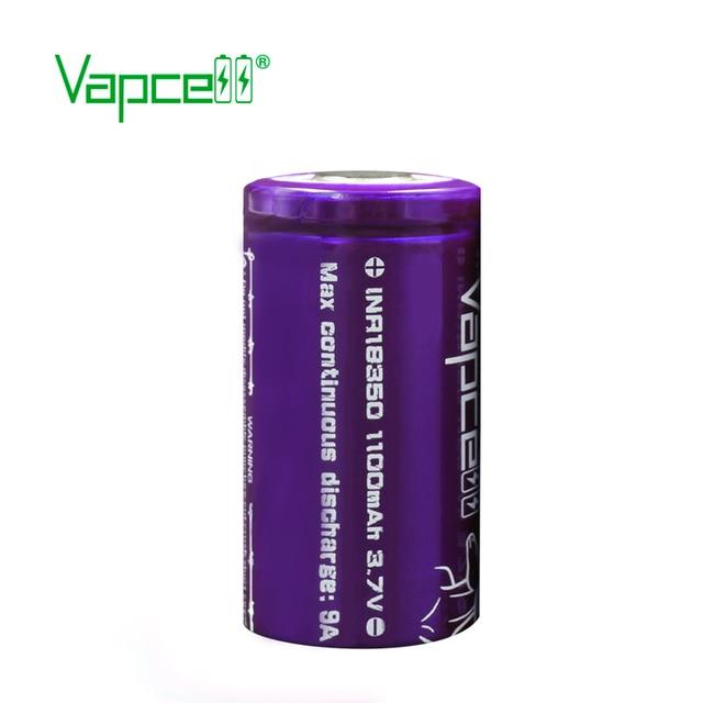 Vapcell purple 18350 Li-ion Rechargeable Battery 1100mah 3.7V 9A for Electronic Cigarette 18350 Vape cell