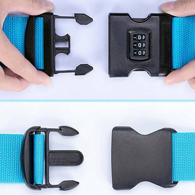 Adjustable Cross Belt Luggage Strap with Combination Lock
