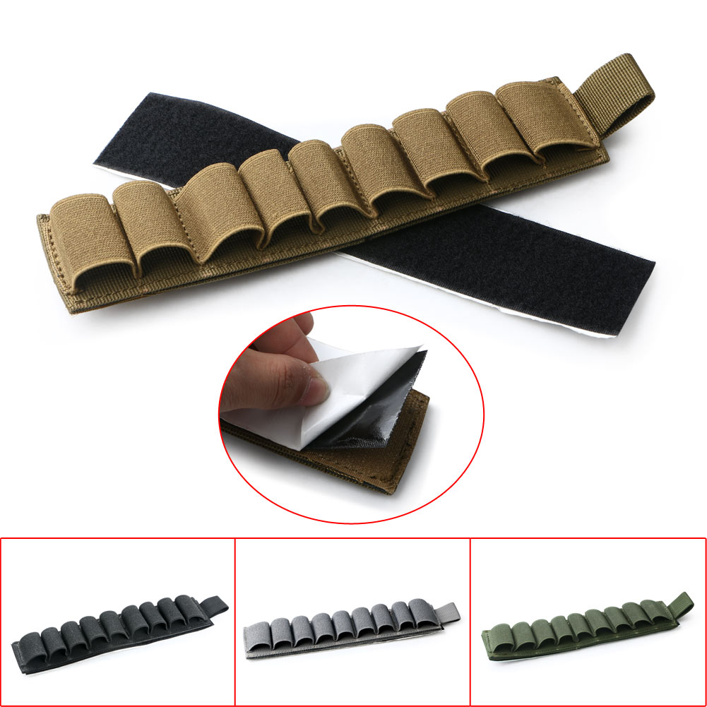Ammunition Belts & Bandoliers Sporting Goods Tacitcal Hunting 9 Rounds Rifle Bullet Holder Butt Stock Shell Cartridge Pouch
