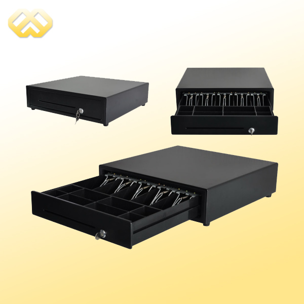 HC-101P-4 Cash Register Drawer For Pos Terminal Hot Selling 3 Position Lock Cash Drawer With 4 Bill Trays And 4 Coin Trays