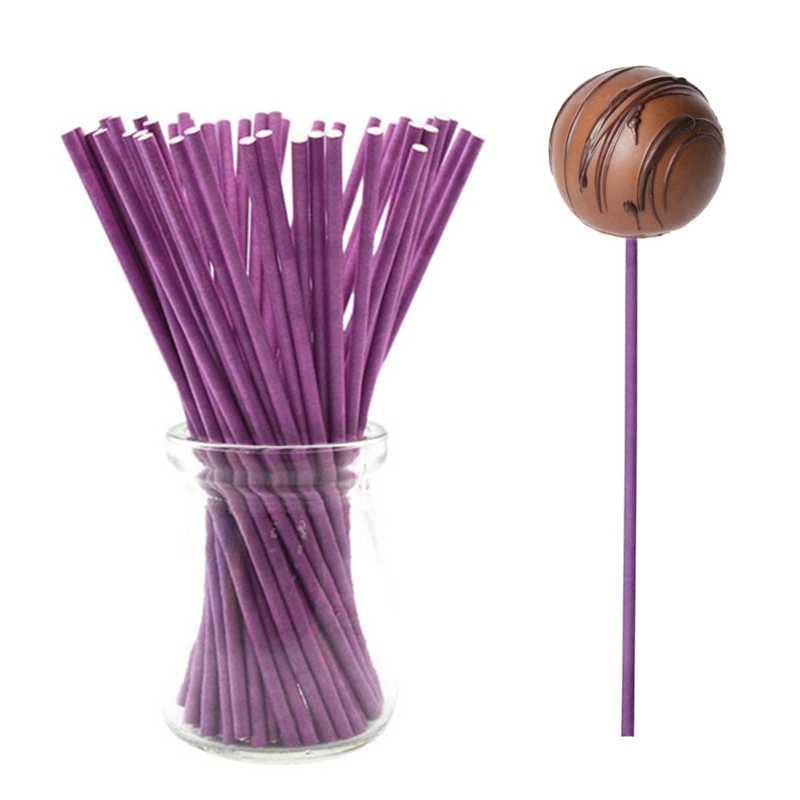 100 ชิ้น/ถุง Lollipop Sticks 10 ซม. Sucker Sticks เค้ก Sticks สำหรับ Lollypop ลูกอมช็อกโกแลตน้ำตาล Pole Stick เครื่องมือ