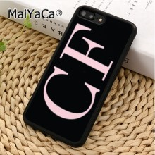 MaiYaCa PERSONALISED INITIALS MONOGRAM PASTEL M02 Phone Case Cover For iPhone 5 5s 6 6s 7 8 X XR XS max Samsung S6 S7 S8 S9 plus(China)