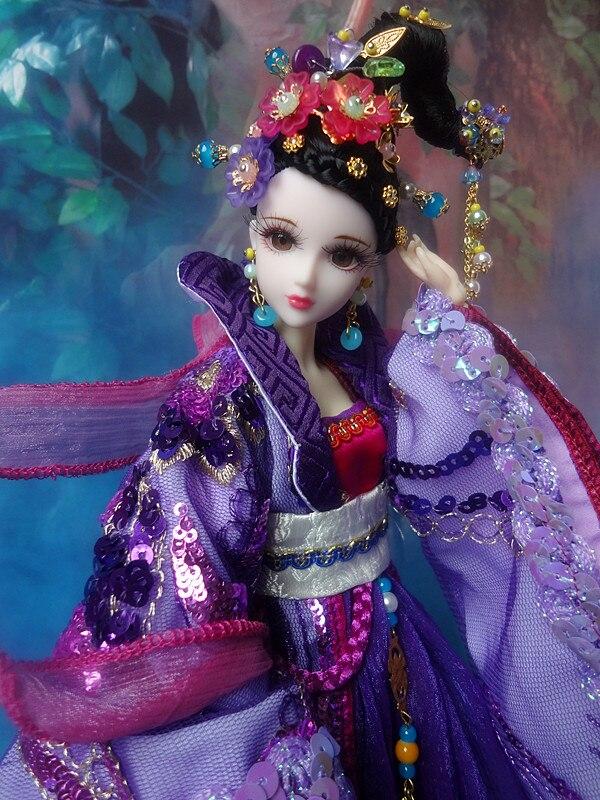 Gratis Shopping 32cm high-end kinesisk Qing Dynasty Princess Dolls - Dockor och tillbehör - Foto 5
