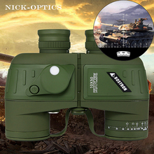 Big discount BOSTRON binoculars 7X50/10×50 hd professional military binocular with Digital Compass telescope night vision Eyepiece focus