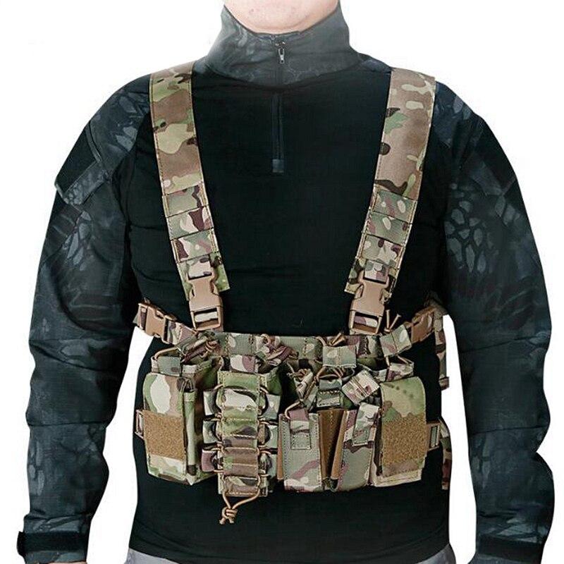 Nouveau gilet de chasse tactique extérieur Airsoft poche Molle Simple gilet tactique militaire avec pochette de Magazine