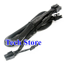 High Quality 8pin Male to pcie dual 6+2pin 8pin Modular Power supply cable for Corsair RM1000X RM550X RM650X RM750X RM850X все цены
