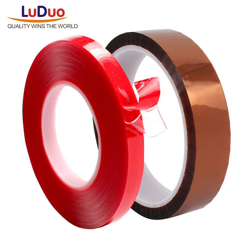 LUDUO 3m Red Double Sided Adhesive Tape Transparent Silicone and Heat Resistant Gold Polyimide Tape for Car Auto Interior Fixed 3m double side adhesive tape for auto 3000cm x 0 8cm
