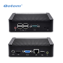 Qotom Mini PC Q220N con Core i5-3317u, hasta 2.6 GHz, puerto de Vídeo HD, VGA, LAN, COM, 5 USB, X86 Mini PC I5
