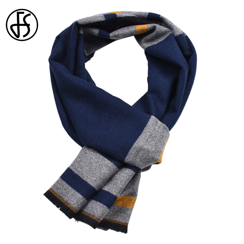 FS Geometric Winter Cashmere   Scarf   Men Colorful Tassel   Scarves   Pashmina   Wrap   Shawl Bufanda Echarpe Homme Fantaisie Double Sided