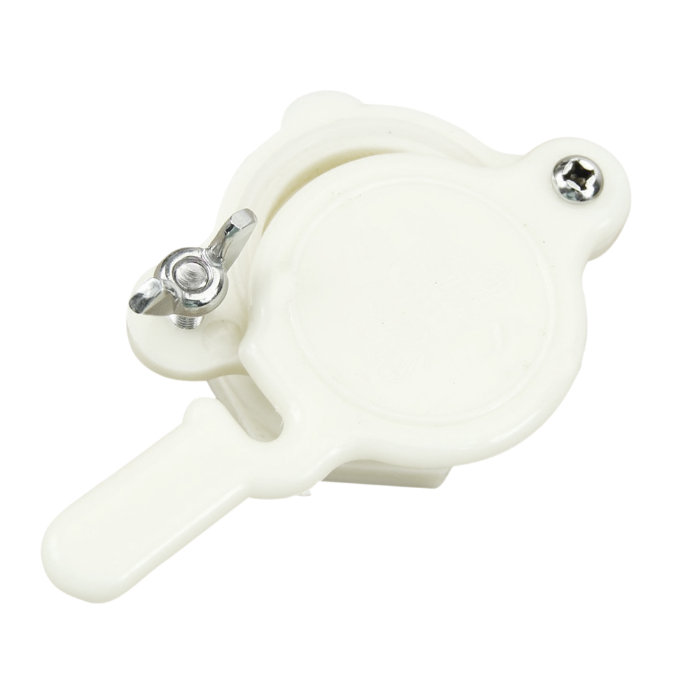 Nylon Honey Gate Valve Honey Extractor Honey Tap Beekeeping Bottling Tool 1PC (White)