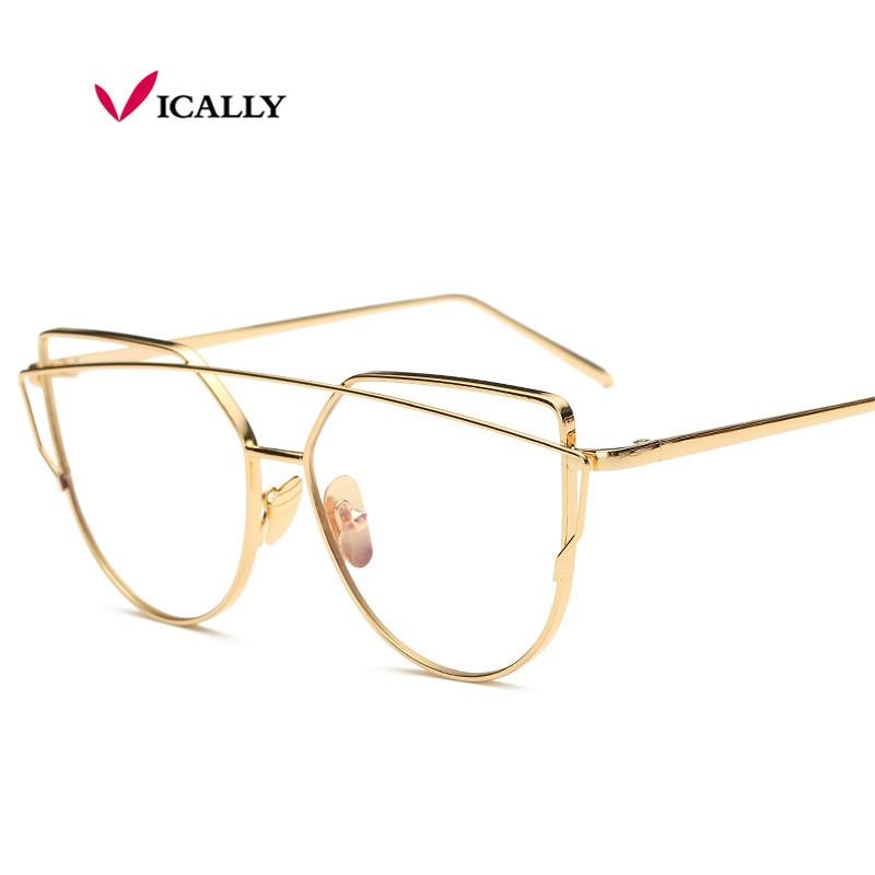 Značka Metal Eyeglasses Frame Móda Ženy Muži Titanové brýle Rámy Zlatý štít Rám se sklenicemi oculos de grau femininos