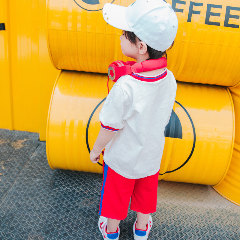 Children's Short-sleeved Suit 2-6years old Young People Outdoor Sportswear Tide Boys Summer Casual Cotton T-shirts And Pants цена