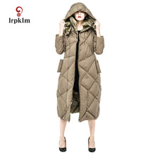 2017 New Fashion High Quality Women Winter X-Long Down Jackets Thick Duck Down Coat Women Warm Two Sides Wear Parkas PQ093