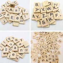 100 шт Алфавит плитка полный деревянный номер скрапбукинг ручной работы слово имя таж письмо набор Эрудит