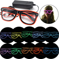 Flashing EL Wire LED neon Glasses Luminous Party Lighting Colorful Glowing Classic Toys For Dance DJ Party Costume party supply