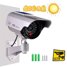 Fake Camera Solar Power Dummy Camera Simulation Outdoor Security CCTV Wireless Surveillance Cameras Bullet With LED Light