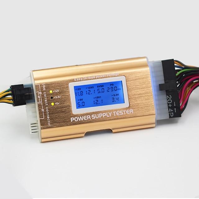 Desktop power tester A T X power detector fault diagnosis tool all ...