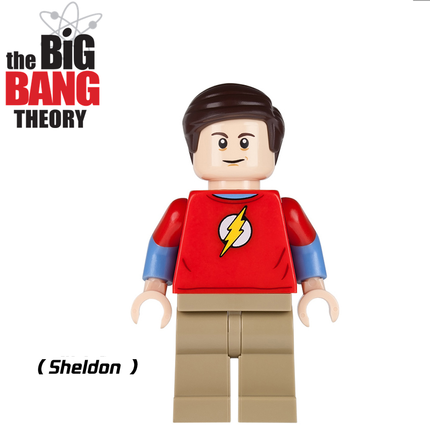 SingleSale TV THE BIG BANG Theory TBBT 21302 Sheldon Cooper Leonard Penny Howard Building Blocks Minifig Kids Gifts Toys