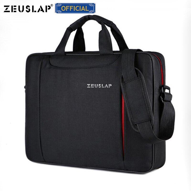 Zeusap portátil bolsa de ombro 11 12 13.3 14.1 15.4 15.6 à prova dwaterproof água náilon notebook mensageiro saco mão para dell 14 15.6 portátil