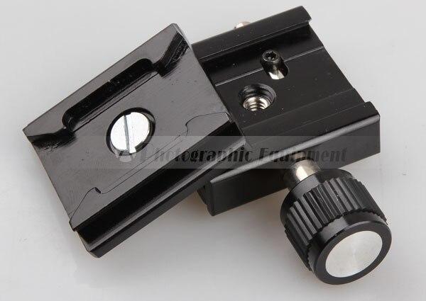 Металл Черный Штатив Глава 50x50 мм Quick Release Plate для 60D 70D 700D 760D D5500 D7000 D7100 DSLR