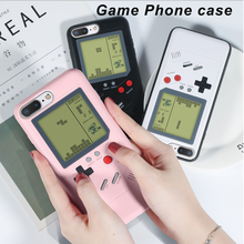 Gameboy тетрис телефон случаях для Iphone 7 8 Plus Мягкие TPU может играть Blokus игровой консоли крышка для Iphone X XS Max 6 6 S plus XR случае