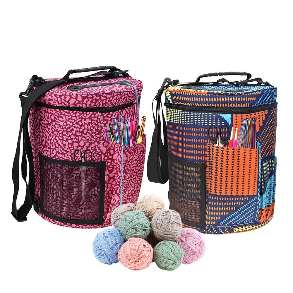 30affc33a956 US $11.75 33% OFF|Wire Mesh Wool Storage Bag Knitted Basket Weaving Round  Basket Tool Tote Line Yarn Crochet Thread Hanging Organizer Box-in DIY ...