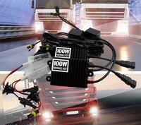 Automobile Replacement HID Xenon Conversion AC Kit 100W H7 6000K Car Head Light Fog Light Lamp DRL Bulbs + Ballasts