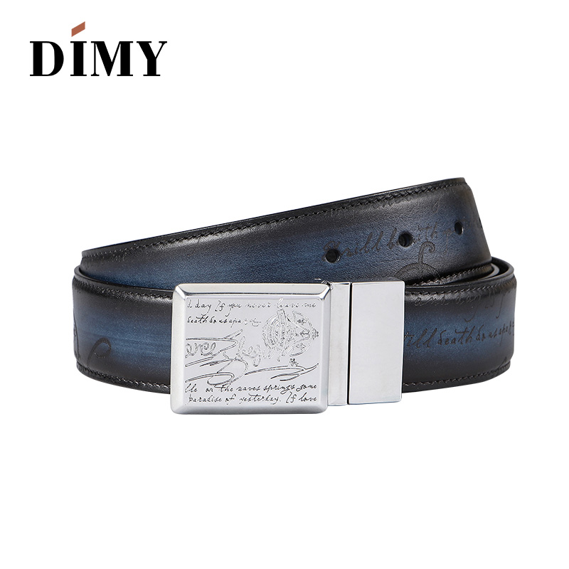 Dimy designer Belts leather genuine Business Belt Mens Handmade Personality Wild Leather Smooth Buckle Youth Pants Men