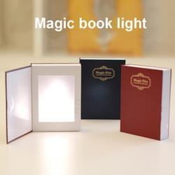 USB Перезаряжаемые светодиодный ABS оболочки книга Форма настольная лампа ночник Booklight для Украшения дома и офиса WWO66