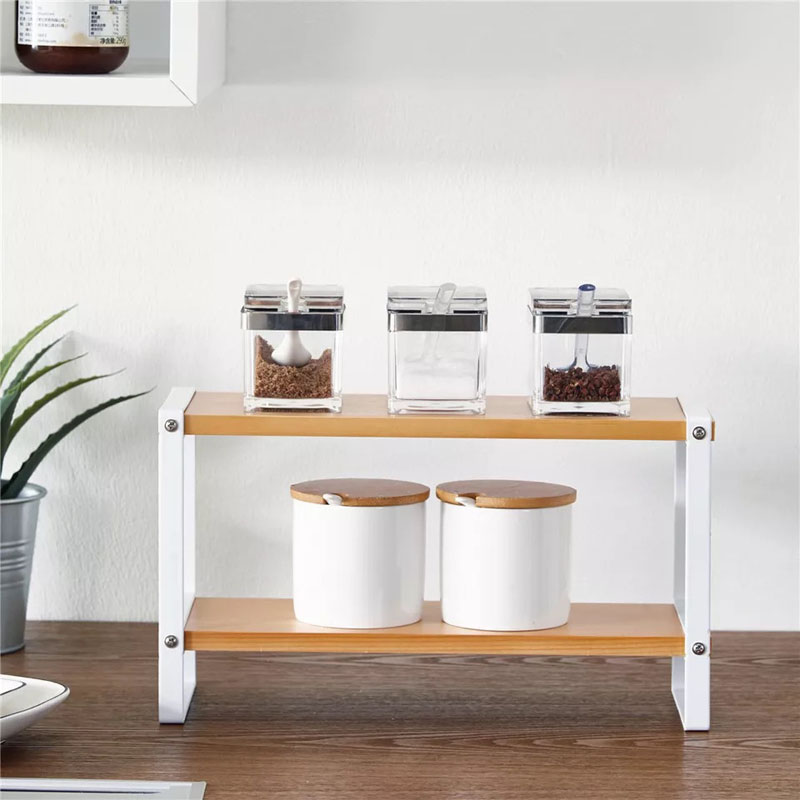 Pantalla multi propósito Cocina Baño Ajustable organizador almacenamiento rack Estante