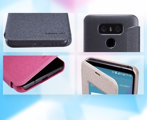 Image 4 - Leather Case for LG G6 NILLKIN sparkle PU leather flip cover smart wake up window for lg g6 (5.7 inch)