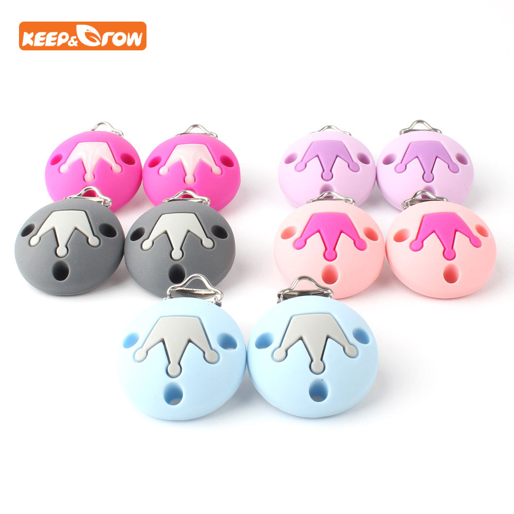 Silicone Pacifier Clip Chain  Dummy Holder  Baby Nipple Clasps Teething Toy