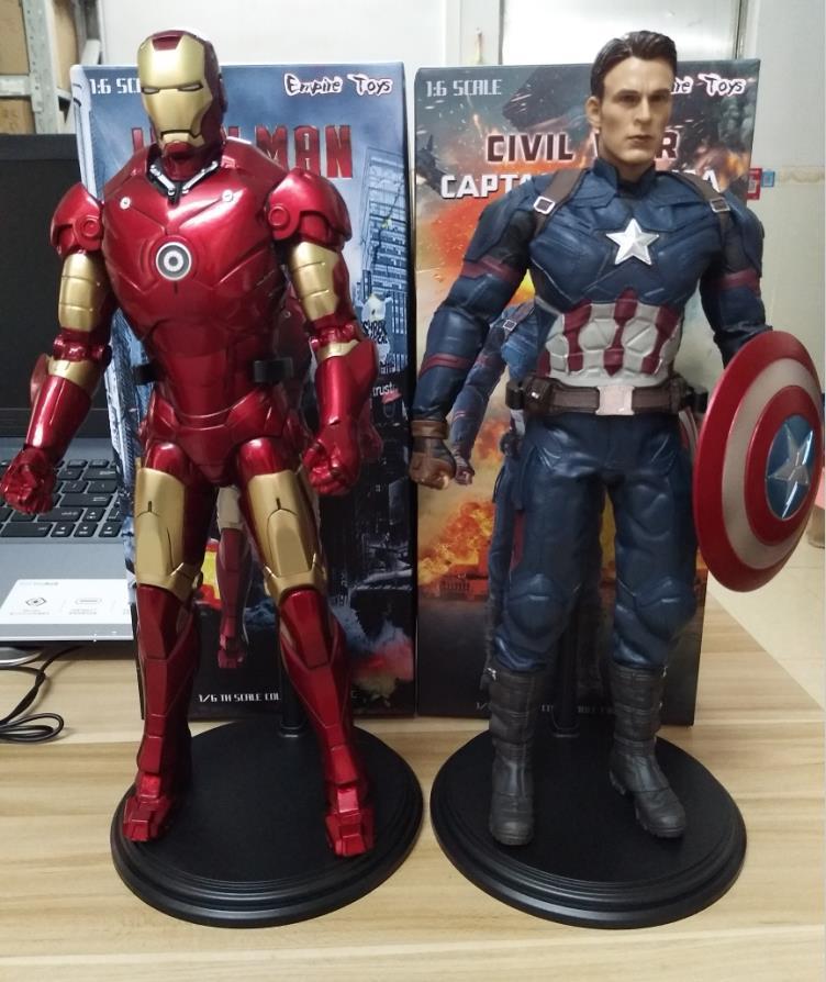 Marvel 1:6 The Avengers Iron Man & Captain America Super Hero Figure Model ToysMarvel 1:6 The Avengers Iron Man & Captain America Super Hero Figure Model Toys