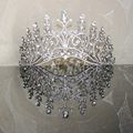 New Big European Bride Wedding Crown Silver Plated Austrian Crystal Large Queen Crown Wedding Hair Accessories