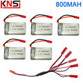 MJX X300C X400 X400-V2 X500 X800 RC Quadcopter Lipo Battery 3.7V 800MAH Charger 5 IN 1 Charging Cable 2.4G 4CH Drone Spare Parts
