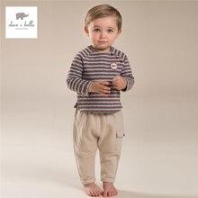 DB3923 дэйв белла осень мальчиков полосатый комплект одежды красный белый полосатый комплект одежды