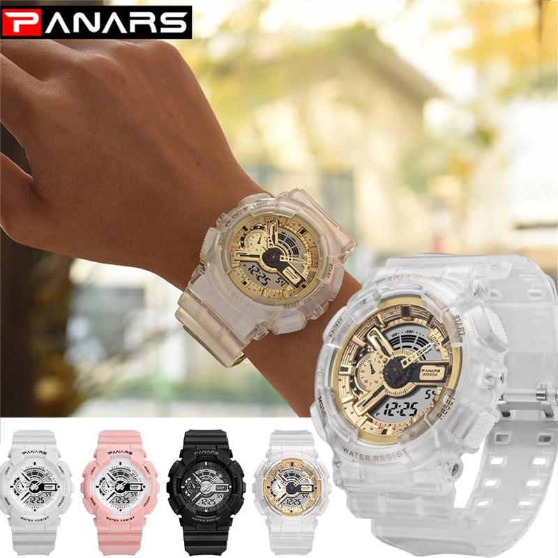 PANARS Men Women Sports Watch G Waterproof Digital LED Ladies Shock Military Electronic Army Wristwatch Clock Men Reloj Watch A4