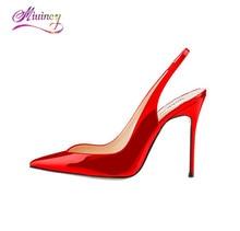 Женские Эластичные Slingback ботинки на каблуках Обувь