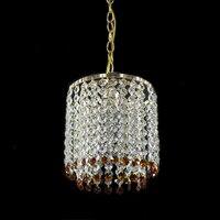 Modern Iron Crystal Lustre European Pendant Lamp Fixtures E27 LED Pendant Lights Vintage For Bedroom Living