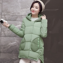 2016 Warm Coat Parkas For Women Winter Slim Hooded Thick Zipper Winter Coat Women Polyester Wadding Plus Size