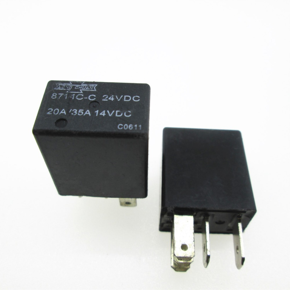 все цены на CAR AUTO 24V relay 871-1C-C 24VDC 871-1C-C-24VDC 8711CC 24VDC DC24V 24V 20A / 35A 5PIN 10PCS/LOT онлайн