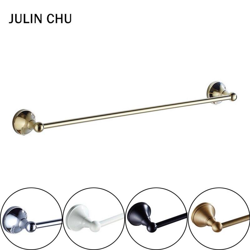 Black Towel Bar Gold Chrome  Antique White Towel Holders Bronze Brass Hand Hanger Kitchen Bathroon Single Towel Rail Holder Rack