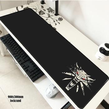 Ведьмак, для мышки pad 900x300 мм коврик для мышки длинные notbook компьютерной мышки подарок на Хэллоуин игровой padmouse геймер клавиатура коврики для...